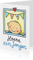 Felicitatiekaarten - Geboorte jongen felicitatie
