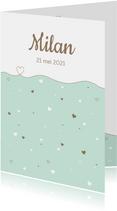 Geboorte - Lijn met hartje en kleinere hartjes