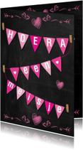Geboorte meisje schoolbord-ByF