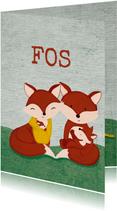 Geboortekaart familie vos