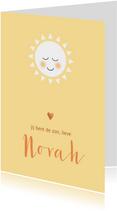 Geboortekaart jij bent de zon