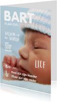 Geboortekaartje cover magazine 1 - OT