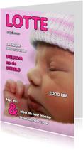 Geboortekaartje cover - OTTI