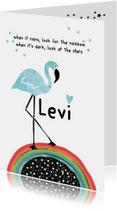 Geboortekaartje Flamingo Levi