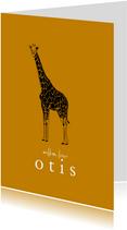 Geboortekaartje hip lijntekening giraf