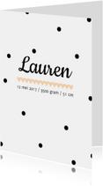 Geboortekaartje Lauren - HM