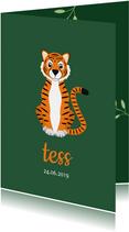 Geboortekaartje met de liefste tijger