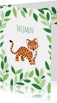 Geboortekaartje met lieve tijgertjes