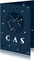 Geboortekaartje sterrenbeeld boogschutter universum