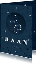 Geboortekaartje sterrenbeeld maagd universum