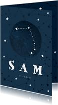 Geboortekaartje sterrenbeeld ram universum
