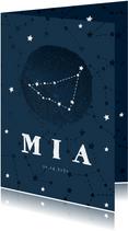 Geboortekaartje sterrenbeeld steenbok universum