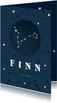 Geboortekaartje sterrenbeeld vissen universum