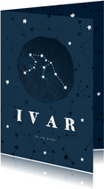 Geboortekaartje sterrenbeeld waterman universum