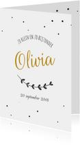Geboortekaartje takje Olivia