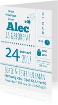 Geboortekaartje Typografy alec