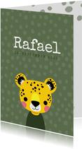 Geburtskarte kleiner Leopard Foto innen