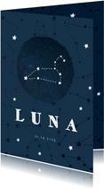 Geburtskarte Sternzeichen Löwe Foto innen