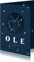 Geburtskarte Sternzeichen Schütze Foto innen