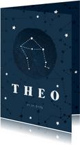 Geburtskarte Sternzeichen Waage Foto innen