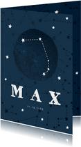 Geburtskarte Sternzeichen Widder Foto innen