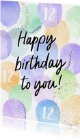 Geburtstags-Glückwunschkarte lila Ballons