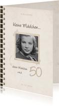 Geburtstagseinladung Fotobuch 'kleine Mädchen werden groß'
