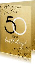 Geburtstagskarte 50. Geburtstag Goldoptik