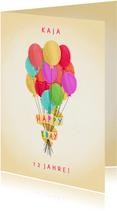 Geburtstagskarte Bunte Luftballons