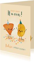 Geburtstagskarte Chip Chip Hurra