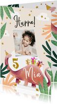Geburtstagskarte Dino mit Foto