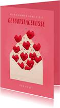 Geburtstagskarte Geburtstagsküsse per Post