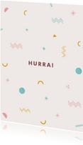 Geburtstagskarte grafische Muster