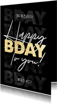 Geburtstagskarte Happy B-Day to you
