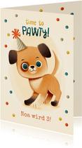 Geburtstagskarte Kind lustiger Hund
