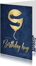 Geburtstagskarte Luftballon Umarmung