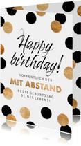 Geburtstagskarte Mit Abstand bester Geburtstag