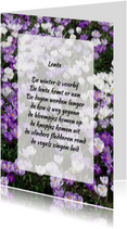 Gedichtenkaart krokussen lente