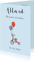 Gefeliciteerd zoontje driewieler en ballonen