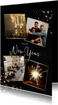 Geschäftliche Neujahrskarte 4 Fotos und Happy New Year