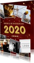 Geschäftliche Neujahrskarte Fotocollage & Goldlook