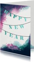 Geschäftliche Neujahrskarte Happy New Year Girlande