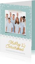 Geschäftliche Weihnachtskarte Arztpraxis mit Foto
