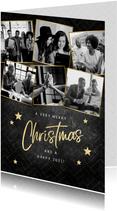 Geschäftliche Weihnachtskarte Bilderreihe schwarz-weiß