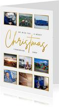 Geschäftliche Weihnachtskarte Fotocollage international