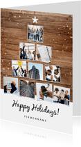 Geschäftliche Weihnachtskarte Fotocollage Tannenbaum