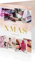 Geschäftliche Weihnachtskarte Fotocollage XMAS