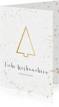 Geschäftliche Weihnachtskarte goldener Tannenbaum