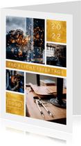 Geschäftliche Weihnachtskarte mit Fotocollage und Jahreszahl