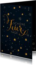 Geschäftliche Weihnachtskarte mit Sternen